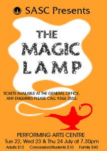 SASC Musical: The Magic Lamp @ St Albans Secondary Performing Arts Centre | St Albans | Victoria | Australia