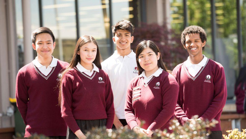 Senior Students outside