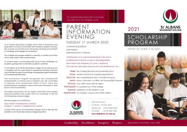Scholarship Brochure for 2021